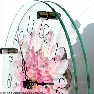 壁掛け時計 ウォールクロック アートフラワークロック 電波時計 オシャレ 北欧 おしゃれ シンプル アンティーク モダン 木製 インテリア 高級|arsonline|03