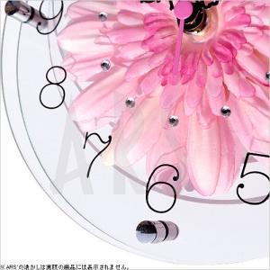 壁掛け時計 ウォールクロック アートフラワークロック 電波時計 オシャレ 北欧 おしゃれ シンプル アンティーク モダン 木製 インテリア 高級|arsonline|04