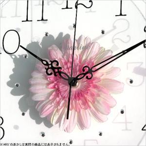 壁掛け時計 ウォールクロック アートフラワークロック 電波時計 オシャレ 北欧 おしゃれ シンプル アンティーク モダン 木製 インテリア 高級|arsonline|02