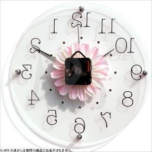 壁掛け時計 ウォールクロック アートフラワークロック 電波時計 オシャレ 北欧 おしゃれ シンプル アンティーク モダン 木製 インテリア 高級|arsonline|06