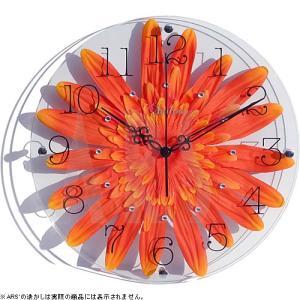 2枚のガラスの中にみずみずしいアートフラワーやフェイクグリーンを挟んだオシャレな北欧風壁掛け時計です...