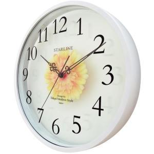 壁掛け時計 ウォールクロック アートフラワークロック 電波時計 オシャレ 北欧 おしゃれ シンプル アンティーク モダン 木製 インテリア 高級 arsonline 02