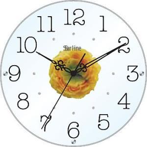 壁掛け時計 ウォールクロック アートフラワークロック 電波時計 オシャレ 北欧 おしゃれ シンプル アンティーク モダン 木製 インテリア 高級|arsonline