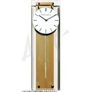 スチールとウッド、ガラスという異素材の組合せがスタイリッシュにマッチしたオシャレな振り子時計です。 ...