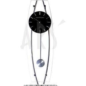 スチール、ガラスという異素材の組合せがスタイリッシュにマッチしたオシャレな電波振り子時計です。 壁面...