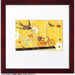 フランス製のパッチワーク柄のポストカードをアートパネルにセット。 フランスならではの淡い色使いとキュ...