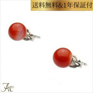 日本産血赤珊瑚5ミリUP玉SVスタッドピアス|art-coral
