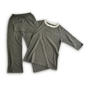 ニットガーゼ ラグランスリーブパジャマ 7分袖 レディース|art-digital