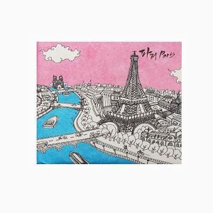 【 Paperwalletペーパーウォレット 】Paris 二つ折り財布【Printed on DuPont(TM)Tyvek(R)】|art-eco