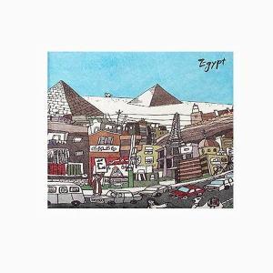 【 Paperwalletペーパーウォレット 】Egypt 二つ折り財布【Printed on DuPont(TM)Tyvek(R)】|art-eco