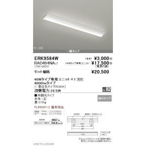 遠藤照明 LEDベースライト 冨士型W230タイプ FLR40W2灯相当 4000lm 5000K ERK9584W+RAD-494NA|art-lighting