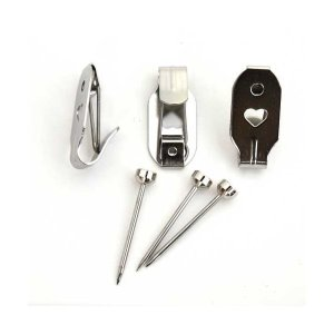 【商品名:F-4003】【セフティステンレスXフック(額吊金具)バネ付き(小)1袋(1本針用 3個入...