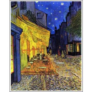 【送料無料】絵画:フィンセント・ファン・ゴッホ「夜のカフェテラス」●サイズF15(65.2×53.0cm)●絵画(油絵複製画)オーダーメイド制作|art-meigakan0717