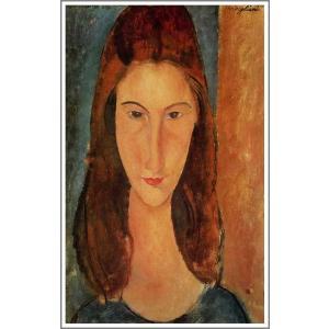 【送料無料】絵画:アメデオ・モディリアーニ「ジャンヌ・エビュテルヌの肖像」●サイズF40(100×80.3cm)●絵画(油絵複製画)オーダーメイド制作|art-meigakan0717