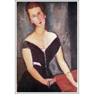 【送料無料】絵画:アメデオ・モディリアーニ「ヴァン・ムイデン夫人の肖像」●サイズF10(53.0×45.5cm)●絵画(油絵複製画)オーダーメイド制作|art-meigakan0717