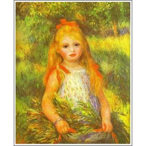 複製画 送料無料 絵画 油彩画 油絵 模写ルノアール(ルノワール)「落穂を拾う少女」F30(91.0×72.7cm)プレゼント 贈り物 名画 オーダーメイド 額付き 直筆|art-meigakan0717