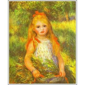 複製画 送料無料 絵画 油彩画 油絵 模写ルノアール(ルノワール)「落穂を拾う少女」F8(45.5×38.0cm)プレゼント 贈り物 名画 オーダーメイド 額付き 直筆|art-meigakan0717