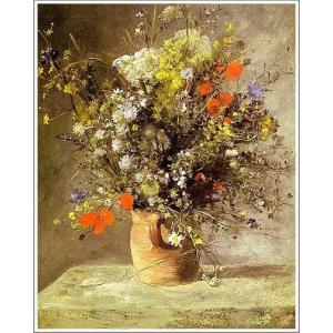 複製画 送料無料 絵画 油彩画 油絵 模写ルノアール(ルノワール)「花瓶の花」F10(53.0×45.5cm)プレゼント 贈り物 名画 オーダーメイド 額付き 直筆|art-meigakan0717