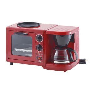 フローレ トリオクッカー FR-100 レッド 赤 トースター コーヒーメーカー 焼プレート art-ya
