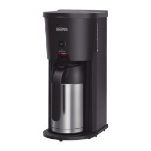サーモス 真空断熱ポット コーヒーメーカー ECJ-700 3〜5カップ用 スリム 安心省エネ 水量計付き そのまま保温 黒 ブラック おしゃれ art-ya