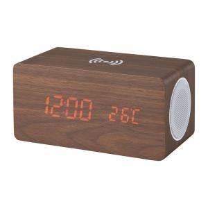 ブルートゥーススピーカー ワイヤレス充電機能付クロック 6183 Bluetooth 時計 おしゃれ かわいい art-ya