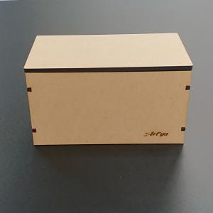 木製マスク収納ケース ボックス 箱 MDF 雑貨 リビング シンプル デザイン ロゴ 彫刻 中が見えない|art-ya