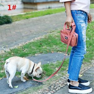 ペット用 リード付きバッグ お出かけ用 おさんぽバッグ 多機能 小物入れ お散歩 art-ya