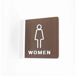 突出サイン 女性トイレ ピクト アクリル 選べるサイズ 室名 プレート 美容室 飲食店|art-ya