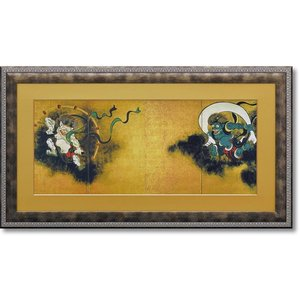 絵画 和風フレーム 尾形光琳 風神雷神図屏風 日本画 |art1
