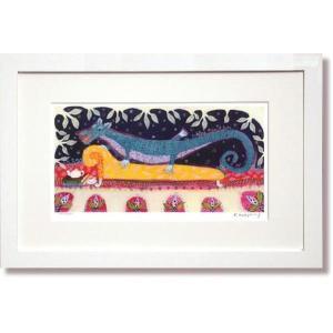 絵画 版画 カレンホイプティング・くつろぎのドラゴン インテリア|art1