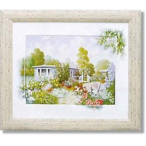 ピーターモッツ/絵画/庭園アート/ハウスボート(絵画・インテリア)|art1