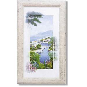 ピーターモッツ/絵画/庭園アート/アビューオーバーミコノス(絵画・インテリア)|art1