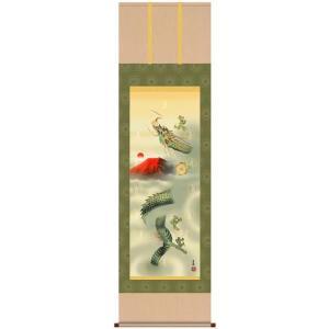 石田芳園・十二神将昇龍図(じゅうにしんしょうしょうりゅうず掛け軸/開運風水画/床の間|art1