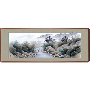 絵画 日本画 彩色山水・江本孝舟 和装額 和額 水墨画 和室インテリア|art1