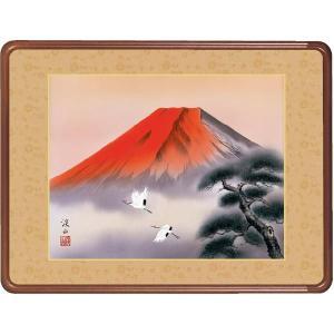 絵画 日本画 赤富士飛翔・伊藤渓山 和装額 和額 和室インテリア|art1