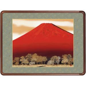 絵画 日本画 赤富士・浮田秋水 和装額 和額 和室インテリア|art1