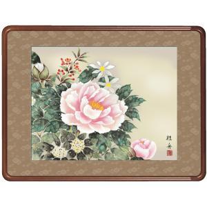絵画 日本画 四季花・長江桂舟 吉祥画 和装額 和額 和室インテリ