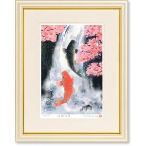 吉岡 浩太郎/シルクスクリーン刷り/版画/版画/双鯉吉祥/絵画・版画 art1