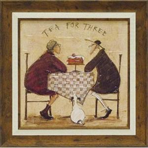 サムトフト現代アート・3人でお茶(絵画・インテリア)|art1