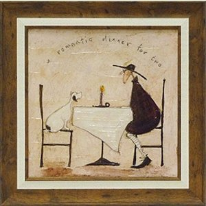 絵画 サムトフト 2人のロマンチィックディナー 現代アート インテリア|art1