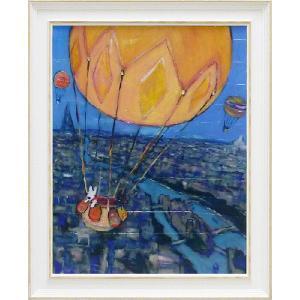 リサとガスパール・気球(アート・複製画) art1