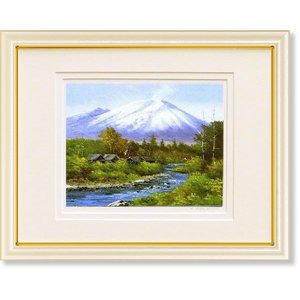 絵画 風景 小林幸三・浅間山 群馬 版画 風景画|art1