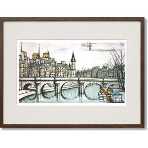 絵画 ビュッフェ シテ島 シルクスクリーン刷 ( Bernard Buffet  ベルナール・ビュッフェ )|art1