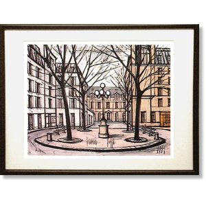 絵画 ビュッフェ フルステンベルグ広場 シルクスクリーン刷 ( Bernard Buffet  ベルナール・ビュッフェ )|art1