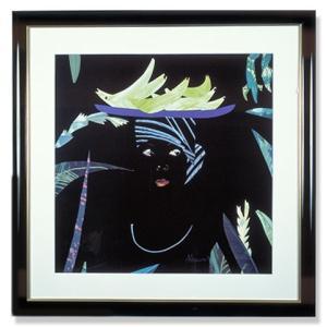 ナンシーハモンド・黒と緑の少女|art1