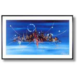 シェンク・ブルーのシルエット(絵画・抽象画・インテリア)|art1