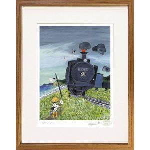 絵画 谷内六郎 (たにうちろくろう)・鉄道員 版画 インテリア art1