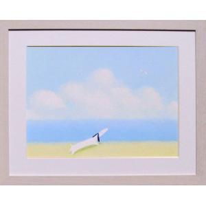 絵画 アート葉 祥明・海を見ていた ジェイク作品 インテリア アート