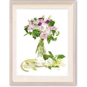 絵画 花 高橋彩・Romantic Bouquet and Corsage インテリア|art1
