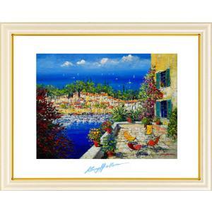 ケリーハラム・コートダジュールの漁村(絵画・インテリア・風景画)|art1